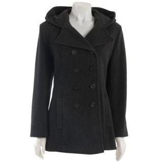 Trendz Womens Wool Blend Hooded Peacoat