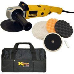 DeWalt DW849 Heavy Duty Variable Speed Polisher along with a