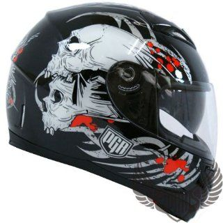 PGR Double Visor 5005 Full Face Motorcycle Helmet SKULL SERIES DOT