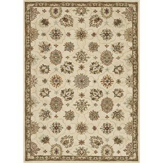 Hand tufted Wilson Ivory/ Taupe Wool Rug