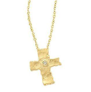 Meira T 14K Yellow Gold & Diamond Byzantine Style Cross