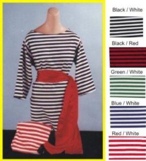 Alexanders Costume 22 228/BL Large Striped Shirt   Blue