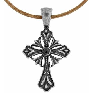 Stainless Steel Mens Antique Cross Necklace