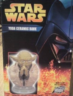 Star Wars Ceramic Mini Yoda Money Bank Bnib   Rare By