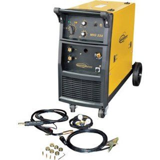 Wire Feed MIG Welder with Built in Running Gear   235 Amp