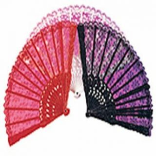 Fan Black Lace Accessory Clothing