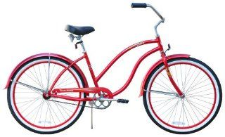 Diva Lady red cruiser bicycle   26 single speed
