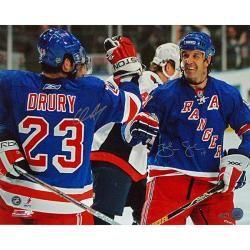 New York Rangers Chris Drury/Brendan Shanahan Dual Signed Celebration