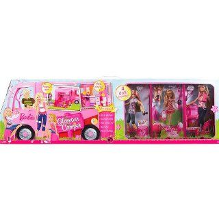 Barbie Pink Glamour Camper with Dolls Play Set: Toys