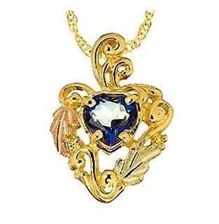 Stamper Black Hills Gold Heart Mystic Fire Topaz Necklace