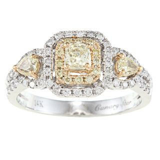 Yach 14k Two tone Gold 1ct TDW White Diamond Ring