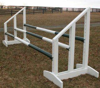 Triple Bar Standards Wood Horse Jumps 5ft: Sports
