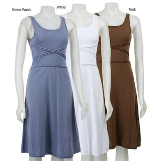 AtoZ Womens Cross Bodice Dress