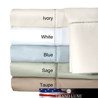 Grand Luxe Egyptian Cotton Linford 300 tc Deep Pocket Sheet and
