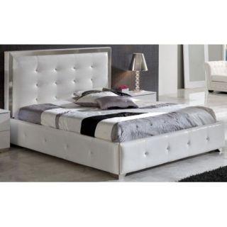 Lit coffre avec tête de lit Croco 150x190cm   Achat / Vente STRUCTURE