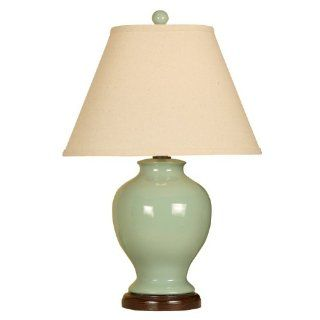 Mario Lamps 10T231AN Ginger Jar Ceramic Table Light, Moss Green