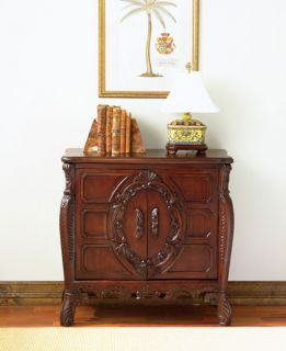 Hand carved Bombe Chest