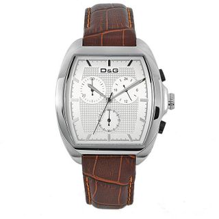 Dolce & Gabbana DW0428 Mens Martin Stainless Steel/ Brown Leather