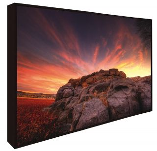 Bob Larson Rock Wall Sunset Giclee Canvas Art