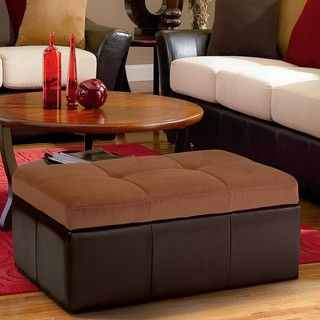 Christopher Knight Home Lucille Brown Leather/ Microfiber Storage