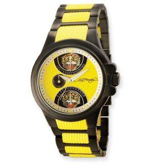 Ed Hardy Mens Speeder Yellow Watch