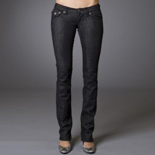Laguna Beach Womens Long Beach Black Straight Leg Jeans Today $66