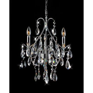 Serenity 3 light Chrome and Crystal Chandelier