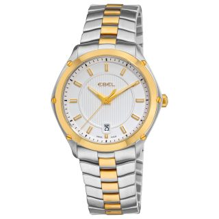 Ebel Mens Classic Sport Two Tone Silver Face Watch