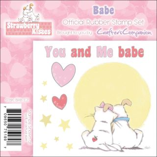 Crafters Companion Strawberry Kisses Babe EZMount Cling Stamp Set