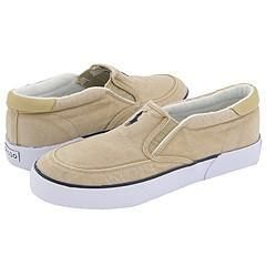 Polo Ralph Lauren Brisbane II Slip On Khaki Washed Canvas/Navy Polo
