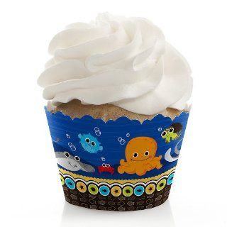 Under The Sea Critters   Birthday Party Cupcake Wrappers