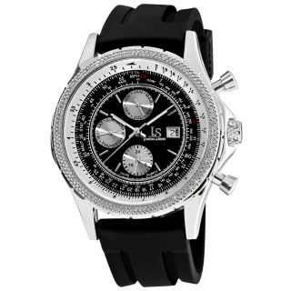 Joshua & Sons Mens Multifunction Rubber Strap Watch MSRP: $395.00