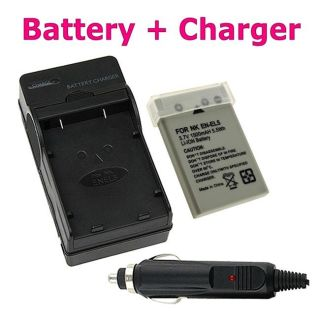 Compact Battery Charger/ Li ion Battery for Nikon EN EL5