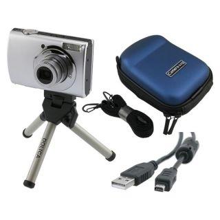 piece Camera Case/ Mini Tripod/ USB Data Cable Combo for Olympus