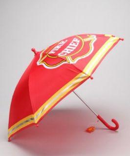 Kids Boys Red Fireman Umbrella Clothing
