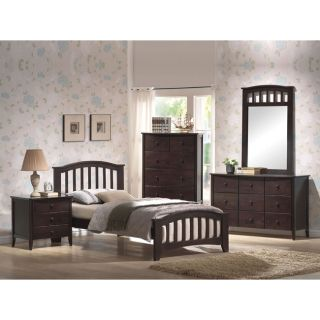 Acme Dark Walnut Twin Bed Frame