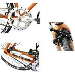 Fixie Flat Grey Fixed Gear Flip Flop Hub Racing Bike