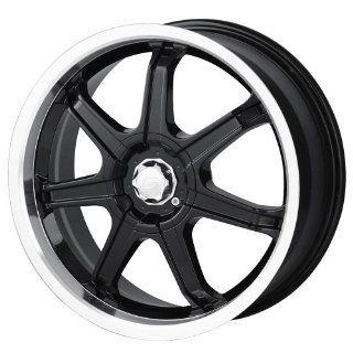 Sacchi S35 235 Black Wheel with Machined Lip (18x7.5/10x100mm