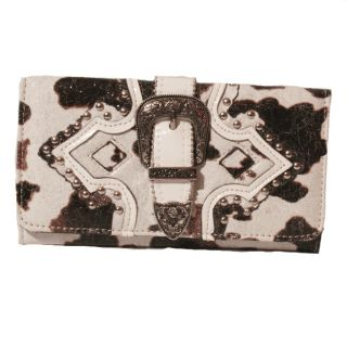 Animal Print Womens Tri fold Buckle Wallet