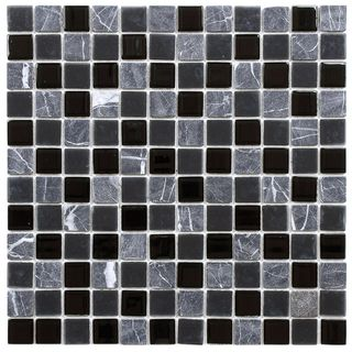 SomerTile 11.5x11.5 inch Chroma Square Ligoria Glass and Stone Mosaic