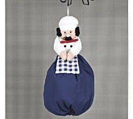 FAT French Italian Chef Plastic Grocery BAG Storgae
