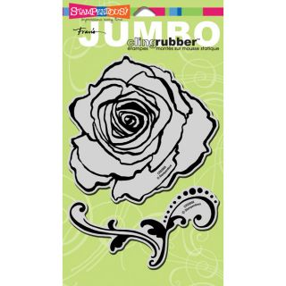 Stampendous Rose Jumbo Cling Rubber Stamp