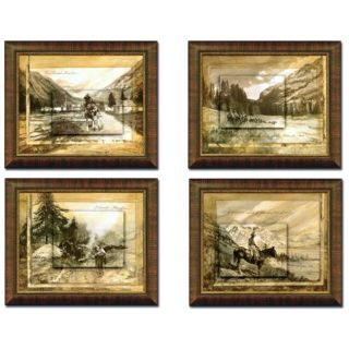Telage Trailriders 4 piece Framed Art Set
