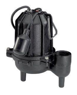 Wayne CSE50T 1/2 HP 7, 680 GPH Cast Iron Submersible Sewage Pump