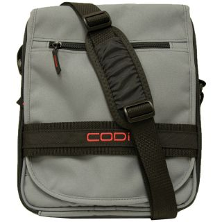 CODi Dispatch Grey Vertical 14.1 inch Laptop Messenger Bag