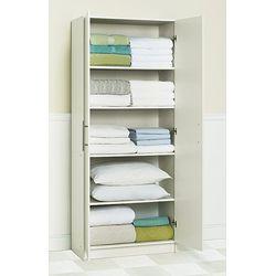 Akadahome Multipurpose 72 inch Antique White Storage Cabinet