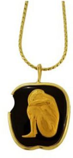 Carrera y Carrera 18k Gold Adam and Eve Apple Necklace