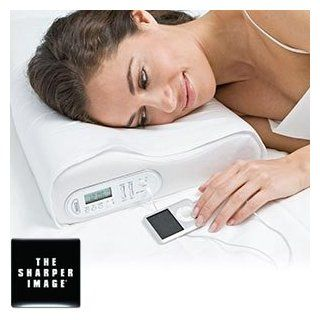 Sharper Image Memory Foam Music Pillow with Vibrating Alarm and with