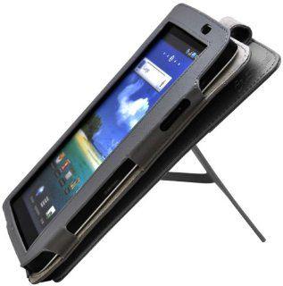 CrazyOnDigital Flip Leather Case For Samsung Galaxy Tab 2