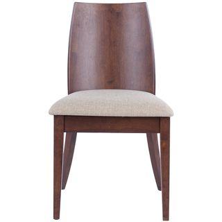 Chic Beige Walnut Finish Side Chair (Set of 2)